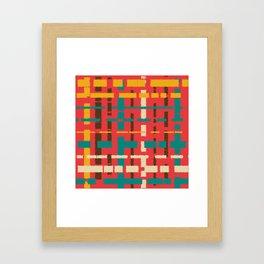 Colorful line segments Framed Art Print