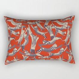 cat party retro Rectangular Pillow
