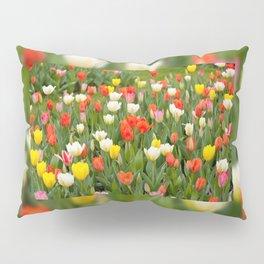Plenty tulips mix grow in garden Pillow Sham