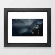 Gravity Falls Oregon Framed Art Print