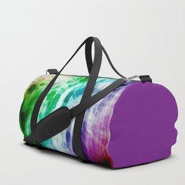 Boho Chic Blue Tie-Dye Duffle Bag