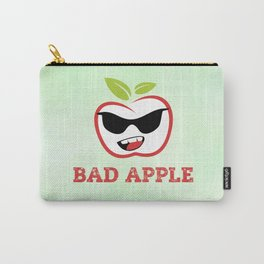 Bad Apple in Black Sunglasses with Attitude Carry-All Pouch