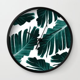 Tropical Banana Leaves Dream #1 #foliage #decor #art #society6 Wall Clock