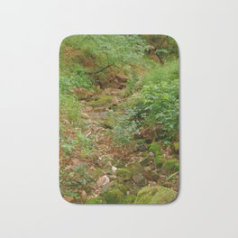 Mossy Rocks in the Woods Bath Mat