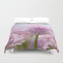 Allium pink macro 303 Duvet Cover