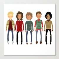 cargline Canvas Prints featuring Christmas Sweaters by cargline