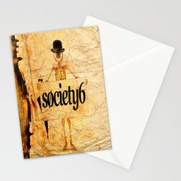 "Monsieur Bone "" Sandwich Man "" for S6 Stationery Cards"