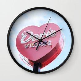377. Davie Village Love Neon, Vancouver, Canada Wall Clock