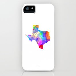 Texas Watercolor iPhone Case