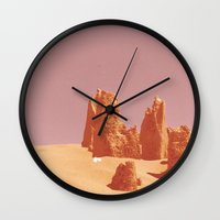 desert Wall Clocks featuring Desert by CaptClare