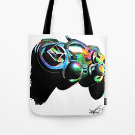 Gamepad fluorescente playstation Tote Bag