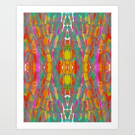 Dream Shade Sugarcane Pattern Art Print