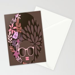Afro Diva : Sophisticated Lady Pink Taupe Lavender Stationery Cards