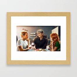 family lunch Framed Art Print
