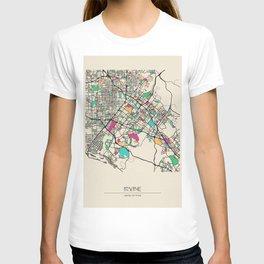 Colorful City Maps: Irvine, California T-shirt