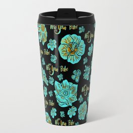 Funky 'Not Your Babe' floral print Travel Mug