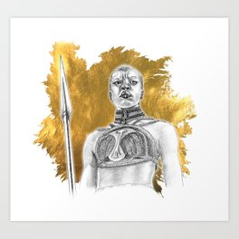 Okoye Warrior Woman #Blackpanther #wakanda Art Print