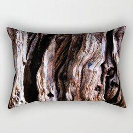 Ancient olive tree wood close-up Rectangular Pillow