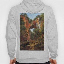 Natural Bridge 1860 By David Johnson | Reproduction | Romanticism Landscape Painter Hoody