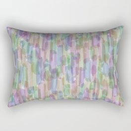 Brushstrokes on White Rectangular Pillow
