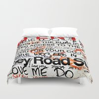 downton abbey Duvet Covers featuring Abbey by JoFar