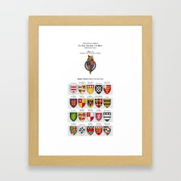 KING HENRY V - Roll of arms of the Knights of the Garter installed during his reign Framed Art Print