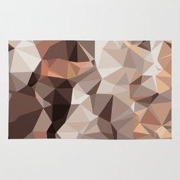 brown orange and black geometric abstract pattern Rug