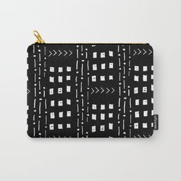 mudcloth 15 minimal textured black and white pattern home decor minimalist beach Carry-All Pouch
