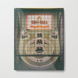 Skee Ball Game Metal Print