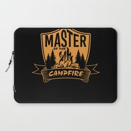 Master of Camp Fire Camping Travel Laptop Sleeve