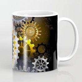 Steampunk Steel Gears Coffee Mug