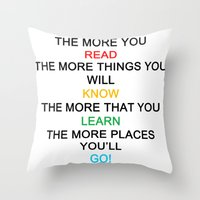 quotes Throw Pillows featuring quotes by kawaiicookie