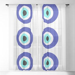 Blue Eye Sheer Curtain