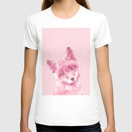 Baby Fox in Pink T-shirt