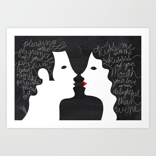 Your Love is More Delightful than Wine Art Print