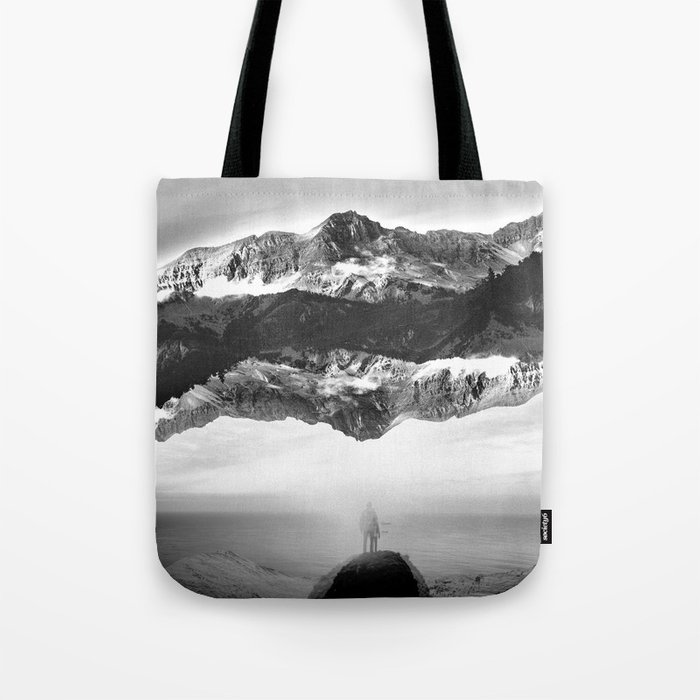 Black and White Ghost of Isolation Tote Bag