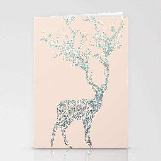 Blue Deer Stationery Cards