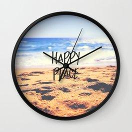 Happy Place Beach Wall Clock