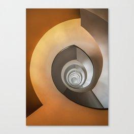 Modern spiral staircase Canvas Print