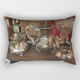 Silver Time Capsule Rectangular Pillow