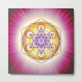 Metatron's Cube - Sun I Metal Print