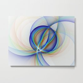 Colorful Design, Modern Fractal Art Metal Print