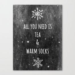Tea And Socks Canvas Print