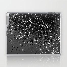 Dark Gray Black Lady Glitter #1 #shiny #decor #art #society6 Laptop & iPad Skin
