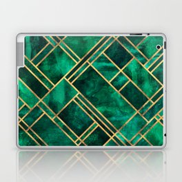 Emerald Blocks Laptop & iPad Skin
