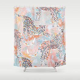 Colorful Wild Cats Shower Curtain