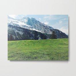 Swiss Mountain Range Metal Print
