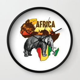 Africa Zoo Zookeepers Rescue Animal Nature Veterinarian Forest Elephant Safari Animals Gift Wall Clock