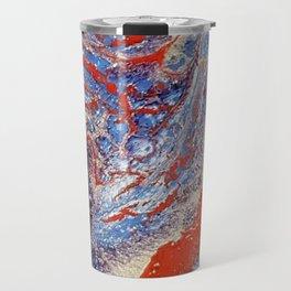 red and blue flow Travel Mug