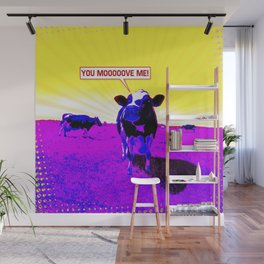 Psychedelic Cows Wall Mural
